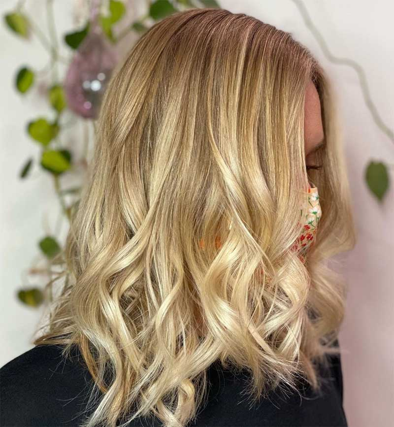 Feathered Blonde Haircut