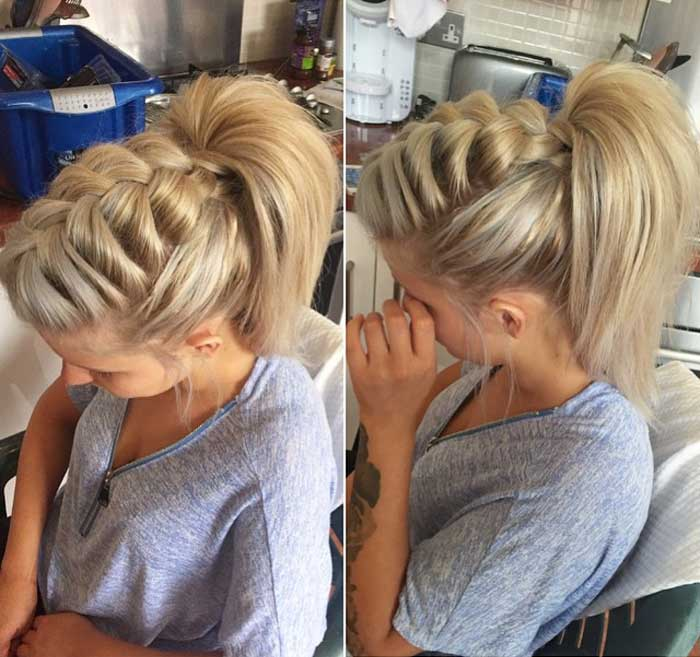 Fishtail Braids With High Pony
