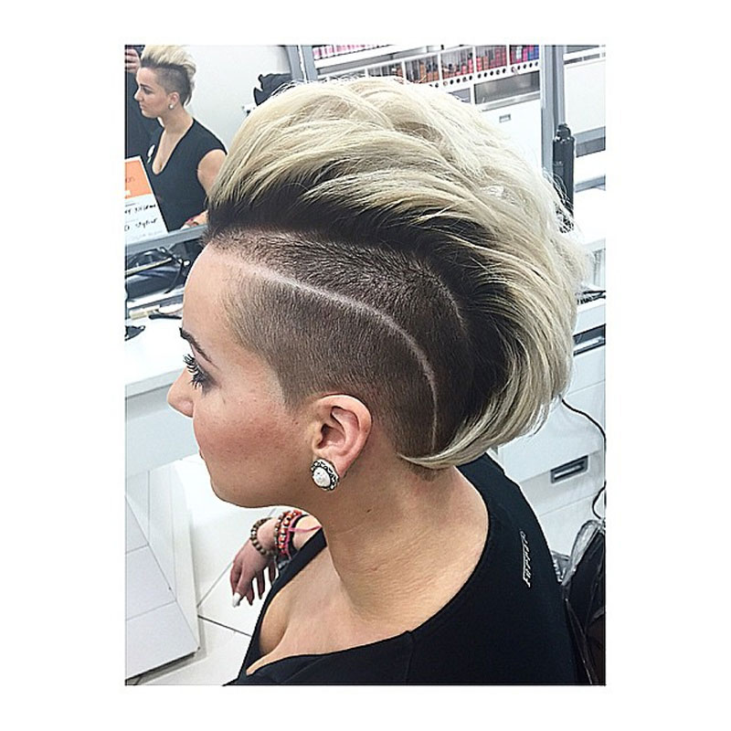 Frosted Tips Mohawk Haircut