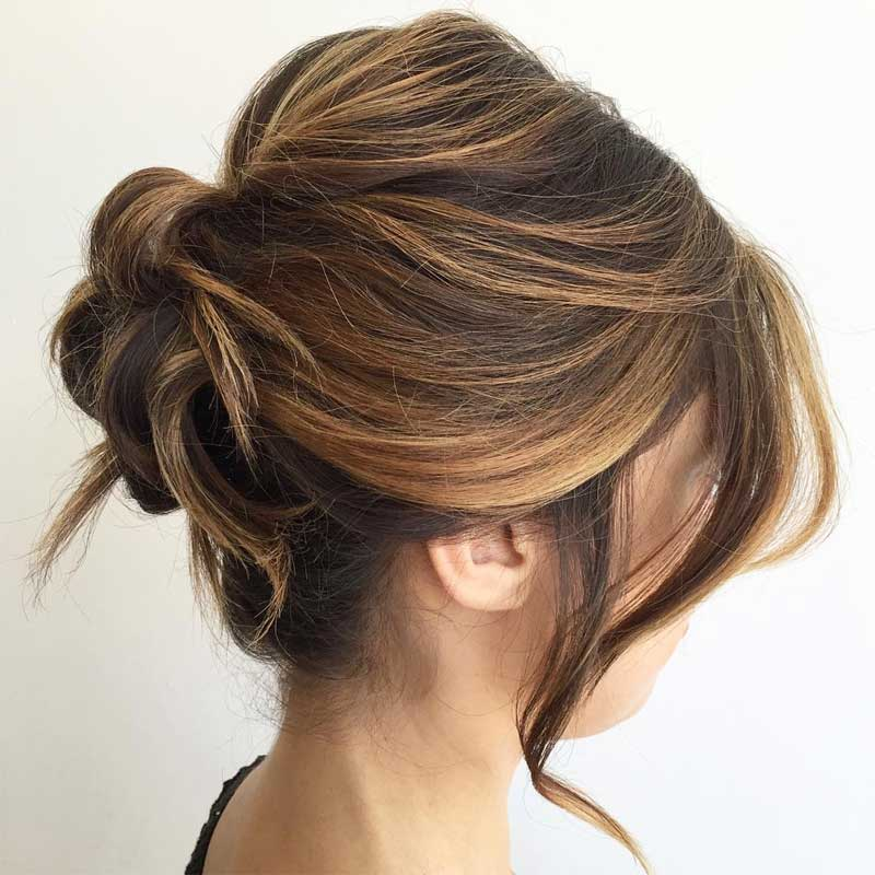 Balayage Fancy Roll Hairstyle
